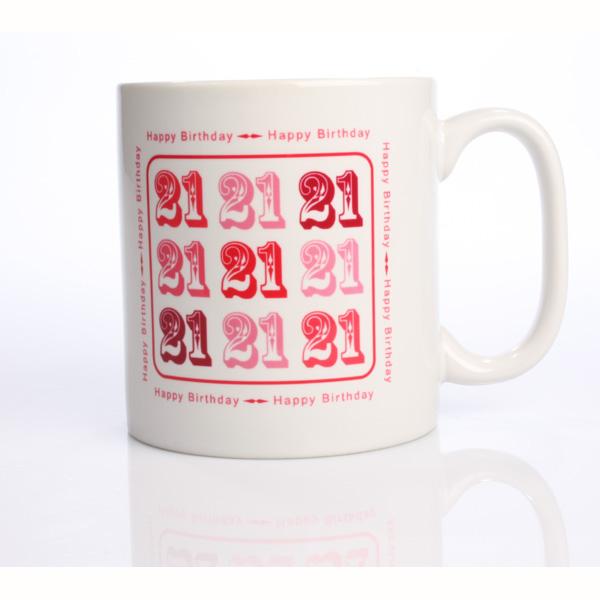 Pink 21st Birthday Mug - 21st gift