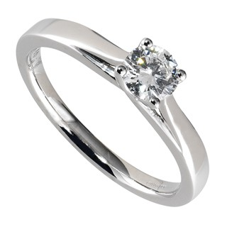Platinum 0.40 carat diamond solitaire engagement ring -  Birthday Your Proposal - Engagement Rings