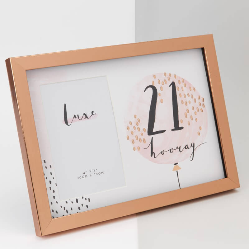 Rose Gold 21st Birthday Picture Frame - 21st gift
