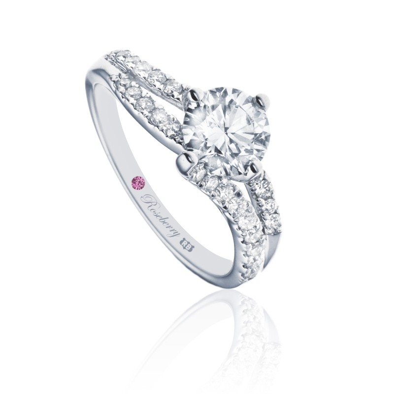 Roseberry Chloe 18ct white gold 0.50 carat diamond solitaire engagement ring -  Birthday Your Proposal - Engagement Rings