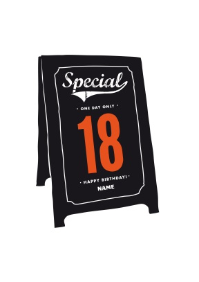 Special 18th Sign Birthday Card - 18th gift