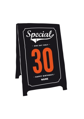 Special 30th Sign Birthday Card - 30th gift