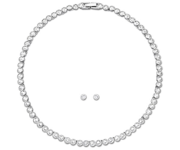 Swarovski Tennis Set White Rhodium-plated - 18th gift
