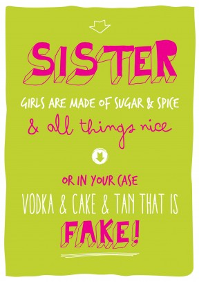 Vodka Cake and Fake Tan | Birthday Card | BC1588 - 18th gift