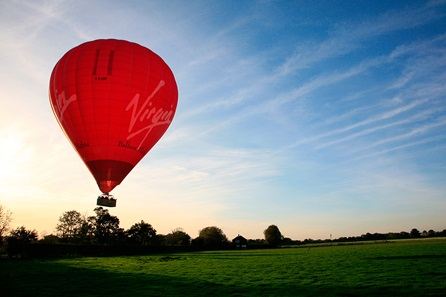 Weekday Sunrise Virgin Hot Air Balloon Flight for Two - 30th gift