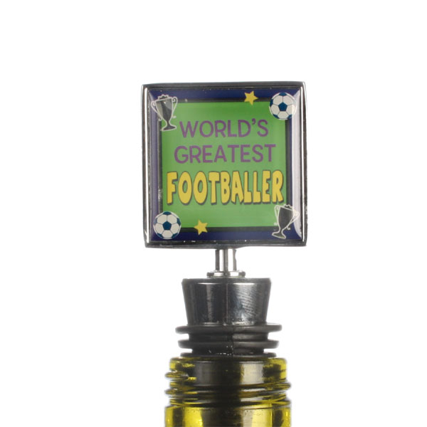 Worlds Greatest Footballer Wine Bottle Stopper - 21st gift