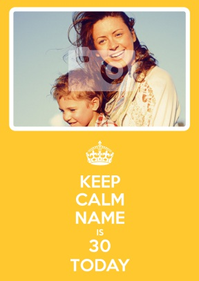 Yellow 30th | Thirtieth Birthday Photo Card - 30th gift