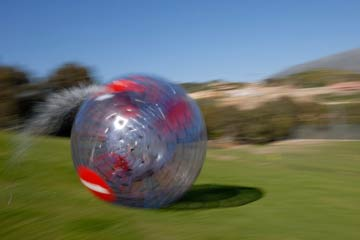 Zorbing Choice for Two - 30th gift