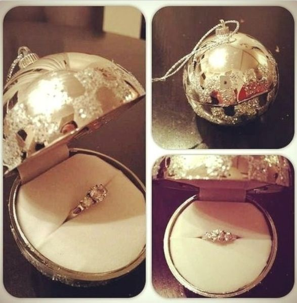 Engagement Ring Christmas Bauble
