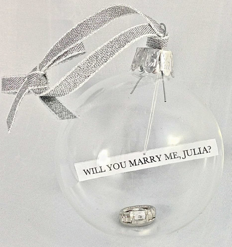 Will you marry me Christmas bauble