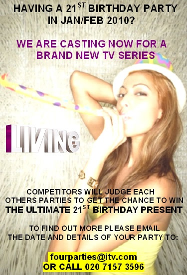 21st Birthday Parties Wanted!