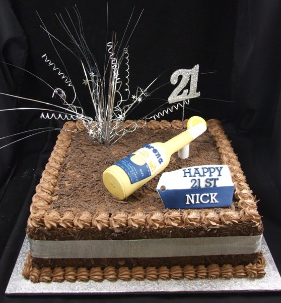 Chocolate Corona 21st birthday cake