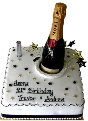 Moet champagne 21st cake