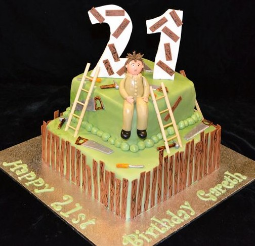 21st birthday carpenters cake