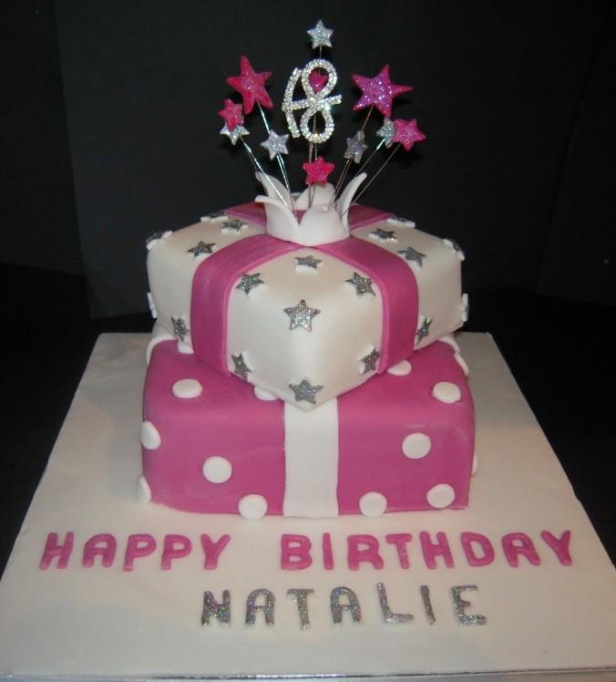 Stacked Birthday Present Cake