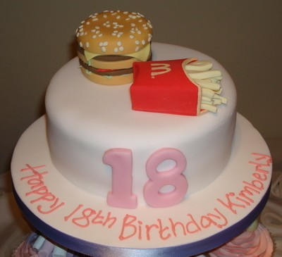 McDonalds 18th Birthday Cake