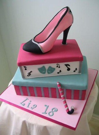 18th Birthday Shoe Cake