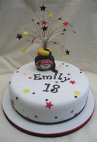 Marmite & Stars 18th Birthday Cake