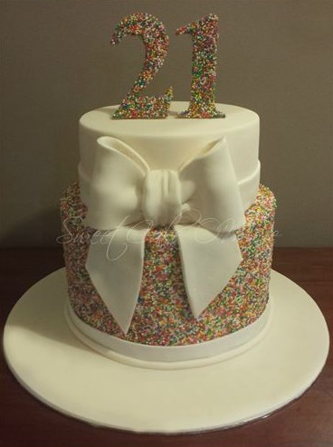Sugar Strands 21st Birthday Cake