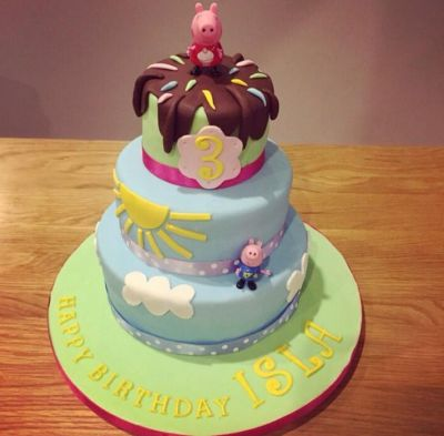 Peppa Pig 3rd Birthday Cake