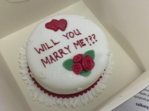Make or buy a will you marry me cake