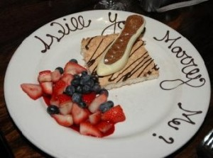 Propose on a yummy dessert