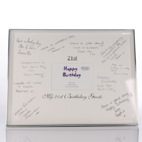 21st Birthday Guest Signatures Frame - 21st gift