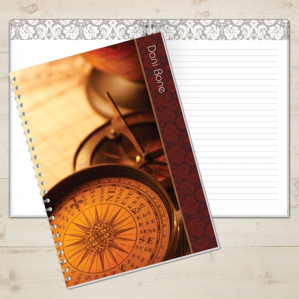 Traveller's Compass Personalised Journal - 18th gift