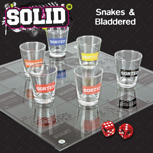 Snakes and Bladdered Drinking Game - 30th gift