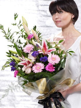 Pretty Pinks Presentation Bouquet - 30th gift