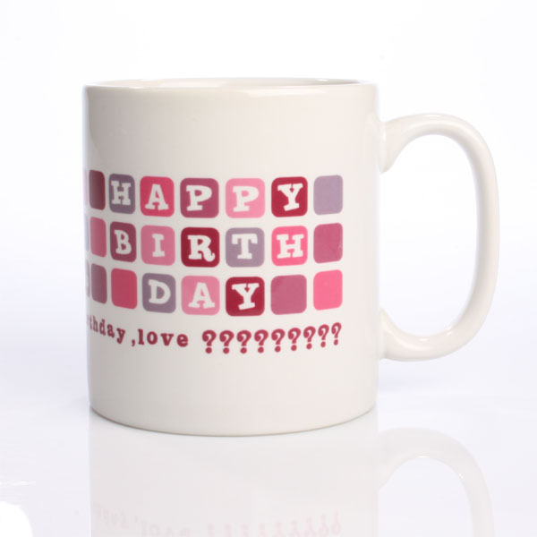 30th Birthday Personalised Mug Pink Tones - 30th gift