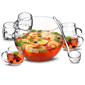 8 Piece Punch Bowl Set - 30th gift
