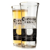 Recycled Corona Extra Beer Bottle Glasses 11.6oz / 330ml (Pack of 2) - 18th gift