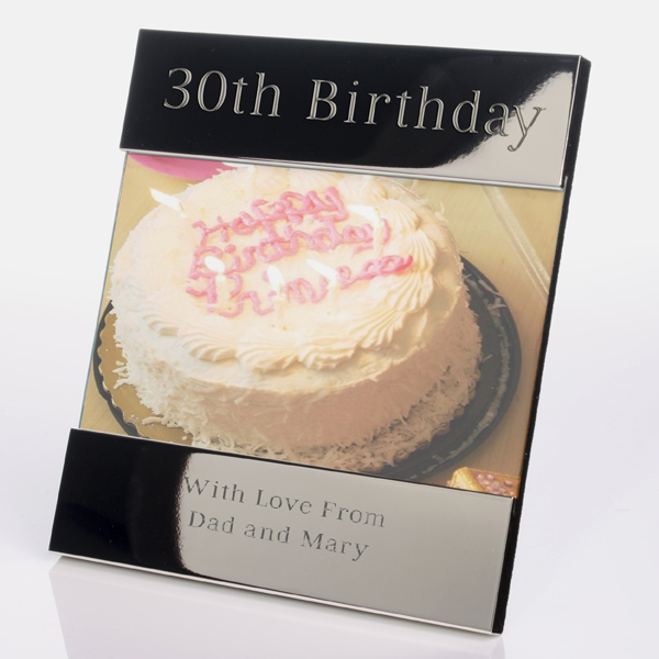 Engraved 30th Birthday Photo Frame - 30th gift