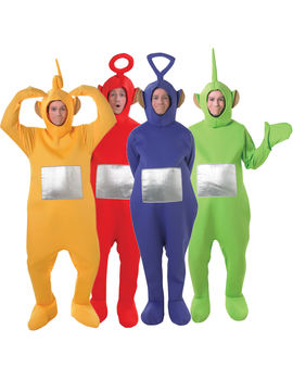Fancy Dress - Teletubbies Group Costumes - 30th gift