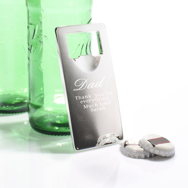 Father's Day Top Off Engraved Bottle Opener - 50th gift