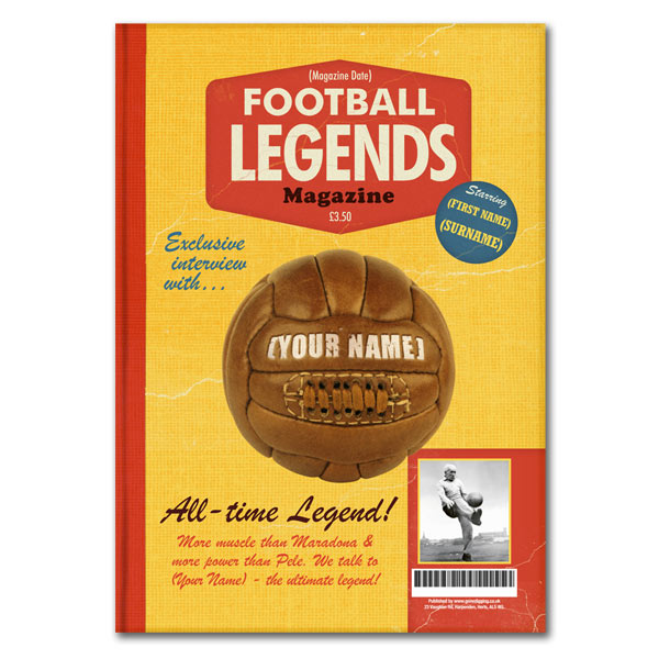 Football Legends Spoof Magazine - 21st gift