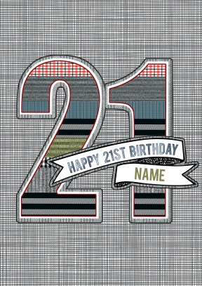 Happy 21st Birthday | Personalised Birthday Card - 21st gift