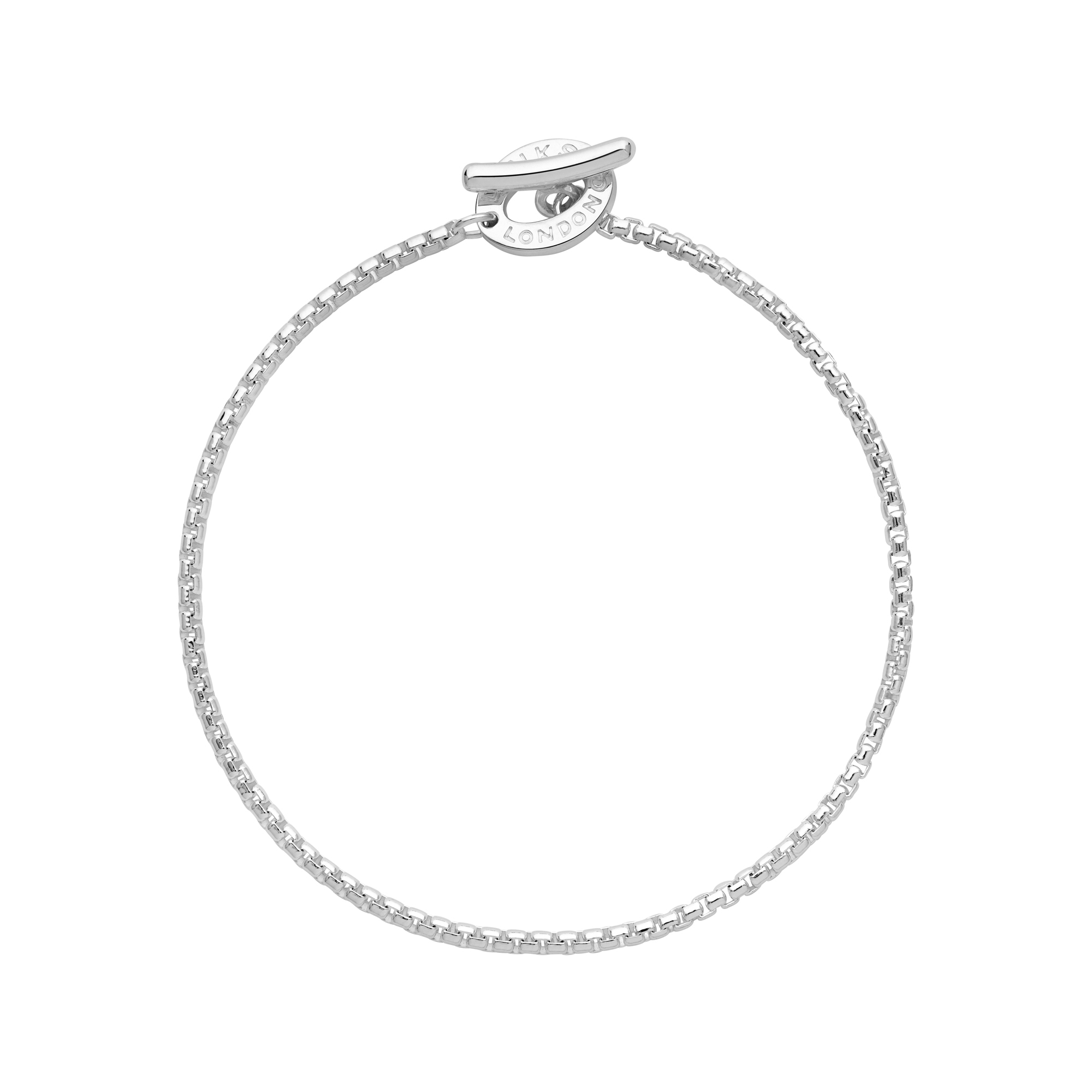 Links of London Sterling Silver Belcher Box Bracelet - 18th gift