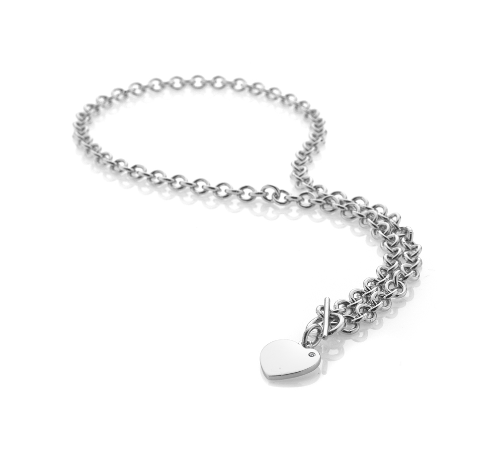 Lovelocked Silver Necklace - 21st gift