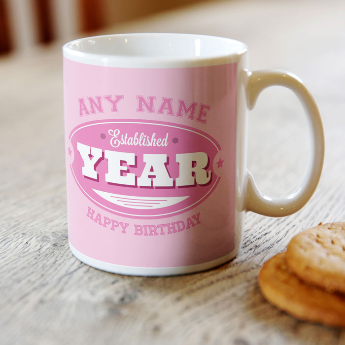 Personalised 21st Birthday Mug - Established 1995 - For Her - 21st gift