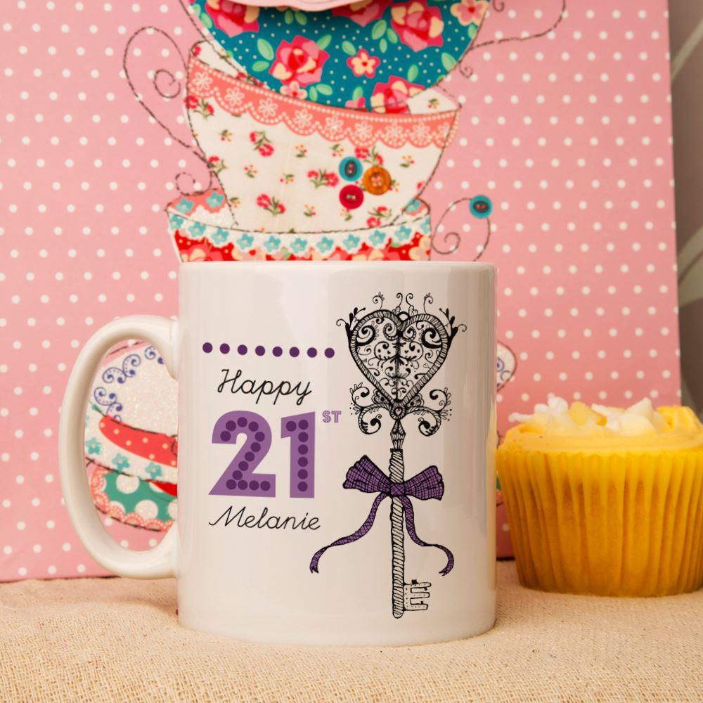 Personalised 21st Birthday Mug - 21st gift