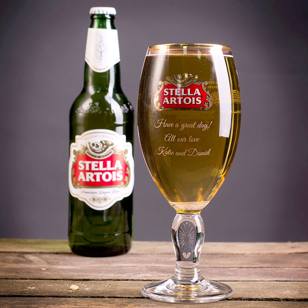 Personalised Authentic Stella Glass - 50th gift