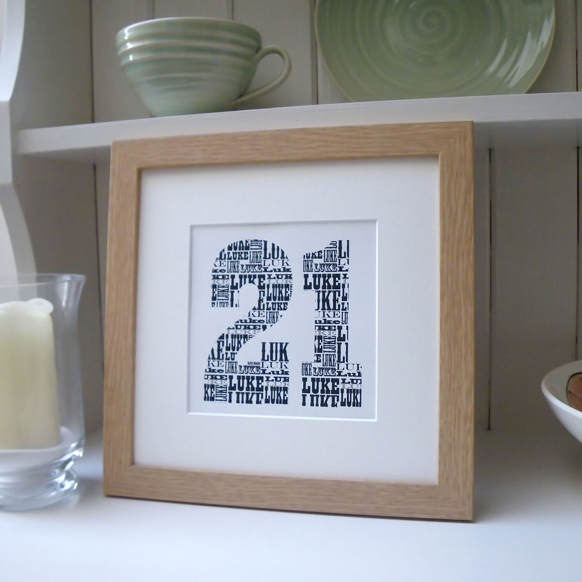 Personalised Birthday Number Print - 21st gift