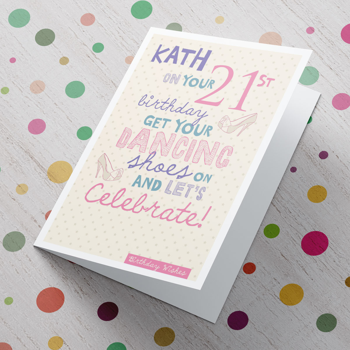Personalised Card - 21st Birthday Let's Celebrate - 21st gift