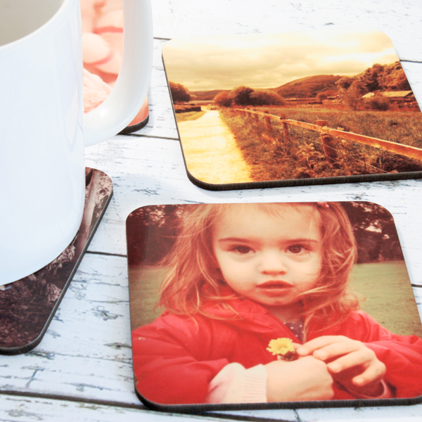 Personalised Coasters 6 Coasters Same Design - 50th gift