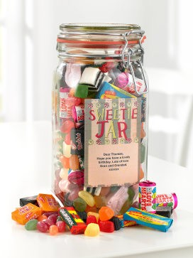 Personalised Sweetie Jar - 50th gift