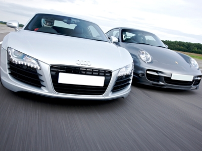 Porsche 996 Turbo v Audi R8 Driving Experience - 50th gift