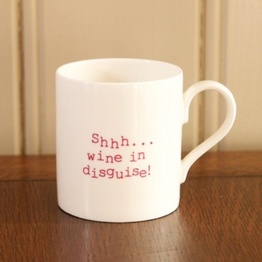 Shhh...Wine In Disguise Mug - 18th gift