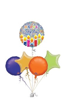 Shimmer Birthday Candles Birthday Bunch of Balloons Gift - 50th gift
